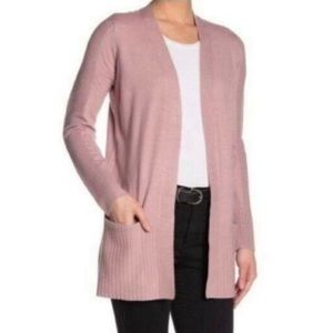 Devotion by Cyrus Ribbed Pocketed Cardigan Small